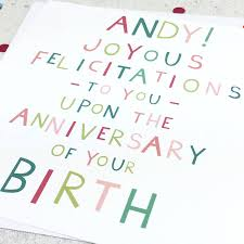 birthday u0027joyous felicitations u0027 funny birthday card by wink design