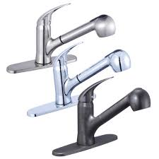 kitchen sink faucet deck plate single handle kitchen sink faucet with swivel spout pull out spray