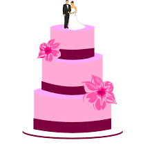 wedding cake logo wedding cake with and groom clip at clker vector