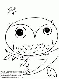 coloring book owl kids coloring