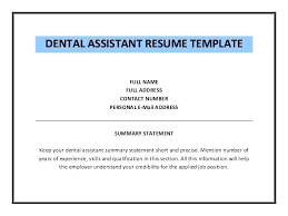 dental assistant resume templates dental assistant resume templates 6 registered dental assistant