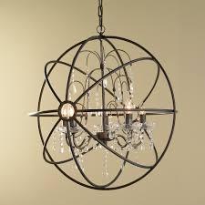 Indoor Lantern Chandelier Innovation Wonderful Glass Orb Chandelier For Excellent Interior