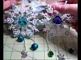 diy make gorgeous blinged out plastic snowflake ornaments steemit