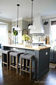 ebony wood harvest gold shaker door kitchen island decor ideas