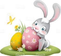 big easter bunny easter bunny with big egg stock vector 646374012 istock