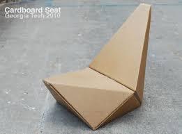 Cardboard Origami - cardboard origami seat modular and foldable