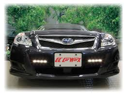 2010 subaru legacy custom led daytime running lights aftermarket by rostra for 2010 11 12