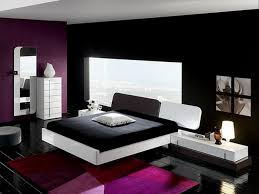 modern queen size bedroom set ideas with simple black wooden