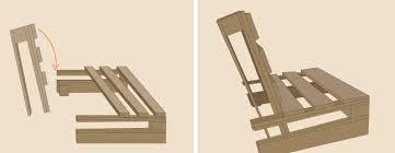 comment fabriquer un canapé en palette en palette avec dossier incliné