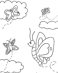 preschool coloring pages printable butterfly animal coloring