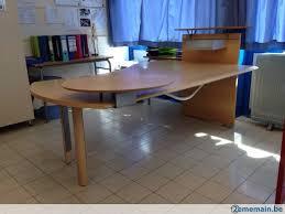 grand bureau en bois grand bureau moderne en bois a vendre 2ememain be
