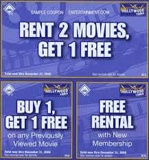 free hollywood video rental coupon