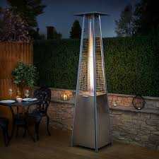 tube patio heater living flame patio heater stainless steel