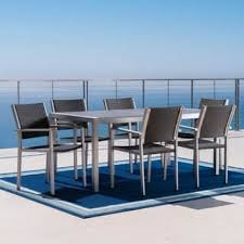 Glass Top Patio Table And Chairs Glass Patio Furniture Outdoor Seating Dining For Less