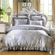 drap en satin de coton achetez en gros gris satin couette en ligne à des grossistes gris