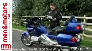 honda tour bus gl 1800 gold wing review 2001 part 2 youtube