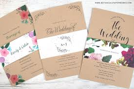 wedding invitations kraft paper new kraft paper wedding invitations with seed paper belly bands