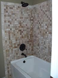 bathroom brown mosaic tile bathtub wall surround with steel rain surround bathtub tile wall