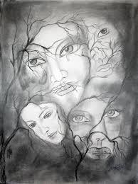 women life it u0027s not easy painting by rashmi vishwa in sketching