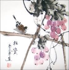 Grapes Home Decor Chinese Brush Painting Bird U0026 Grapes Chinese Art