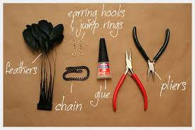 how to make feather earrings with diy feather earrings