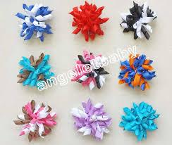 korker ribbon 100pcs 2 5 bows flower corker hair bobbles barrettes korker