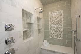Green Subway Tile Backsplash Contemporary Bathroom Robeson - Shower backsplash
