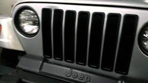jeep grill wallpaper rugged ridge tj black billet grille insert installed part 2 youtube