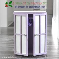 18 inch doll storage cabinet diy closet armoire for american dolls beckham belle
