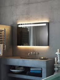 argent wide led light bathroom mirror light mirrors