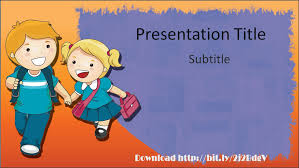 download elementary education powerpoint template with back to