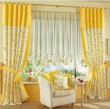 yellow curtains with multicolor and flowers 02 yellow curtains