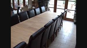 Dining Tables Extendable Large Tallinn Extending Oak Dining Table 12 14 16 Seater Youtube