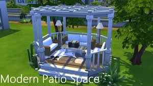 modern outdoor living space the sims 4 speed build youtube