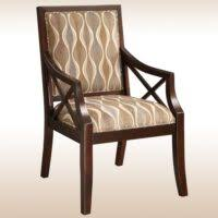 Wooden Accent Chair Furniture Blue And White Accent Chair With Arm And Back Having