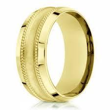 wedding ring designs gold 7 5mm men s 18k satin finish yellow gold designer wedding ring