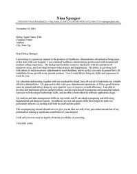 healthcare administration cover letter clinic administrator cover