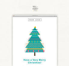 christmas tree mailchimp email template with free modern
