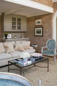 living room design with exposed brick wall wendy labrum
