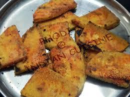 konkani style vegetable fritters or phodi breadfruit or jeev