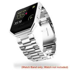 Silver Accessories Amazon Com Infiland Fitbit Blaze Band Stainless Steel Metal
