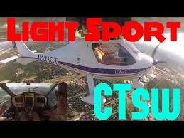 ct light sport aircraft flight design ctsw light sport takeoff departure youtube