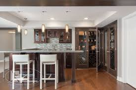 Pictures Of Wet Bars In Basements Basement Wet Bar U0026 Wine Cabinets Traditional Basement
