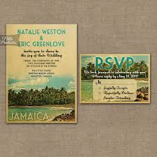 wedding invitations island jamaica wedding invitation printable vintage jamaica island