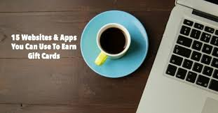 earn gift cards 15 websites apps you can use to earn gift cards