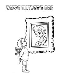 elsa and mothers day boy coloring page h u0026 m coloring pages