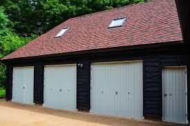 large garage wooden doors