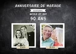 invitation anniversaire mariage invitation anniversaire de mariage popcarte