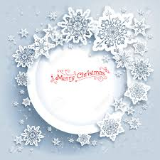 Invitation Card For Christmas Snowflakes Holiday Frame Winter Holiday Card For Web Banner