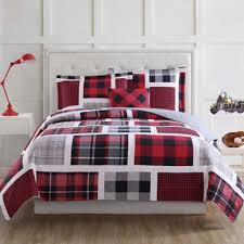 Twin Plaid Bedding by Red Plaid From Buy Buy Baby